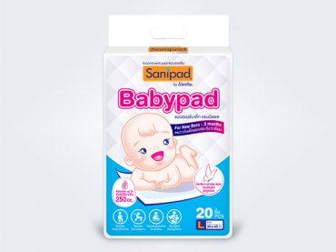 sanipad แซนนิแพด แผ่นรองซับ Sanipad Babypad L 20pcs
