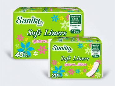 sanita แซนนิต้า liners แผ่นอนามัย Soft Liner-20-40ps