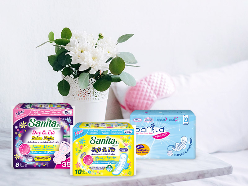 sanita แซนนิต้า sanitary pads ผ้าอนามัย