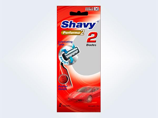 Shavy Performa2 2blades เชฟวี่ ใบมีดโกน