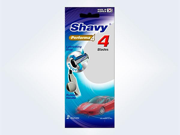 Shavy Performa4 4blades เชฟวี่ ใบมีดโกน