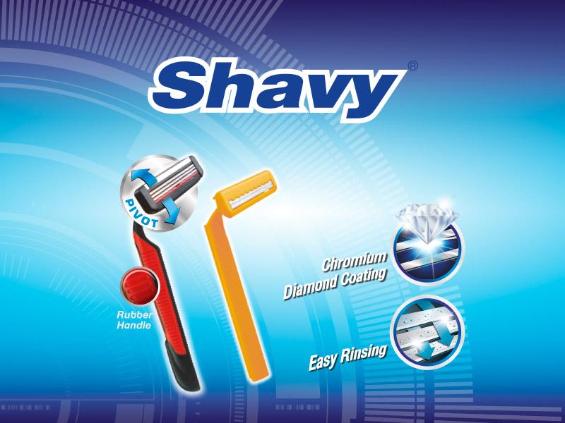 shavy เชฟวี่ ใบมีดโกน