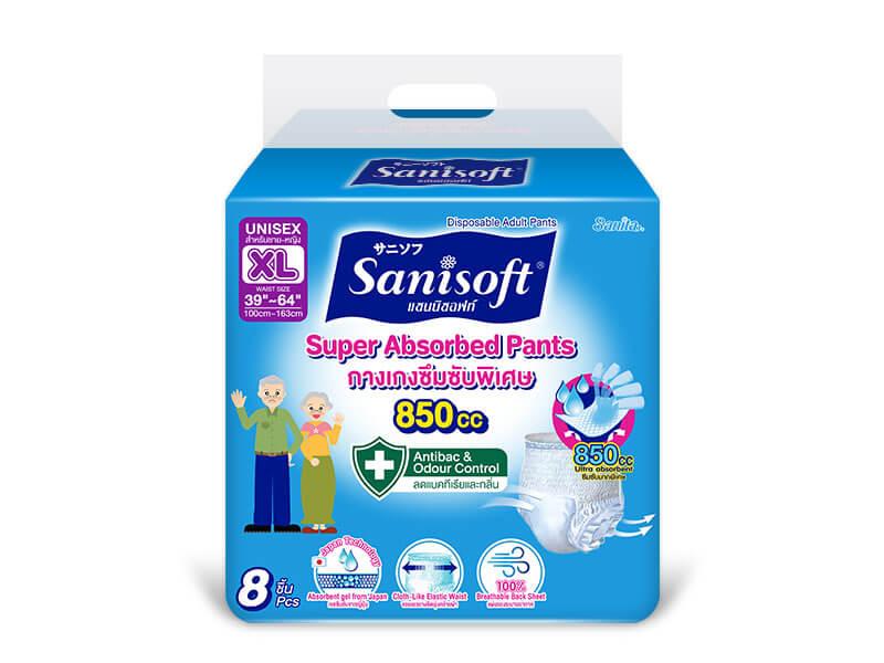 Sanisoft Super Absorbed Pants (XL) - ขนาดบรรจุ 8 ชิ้น