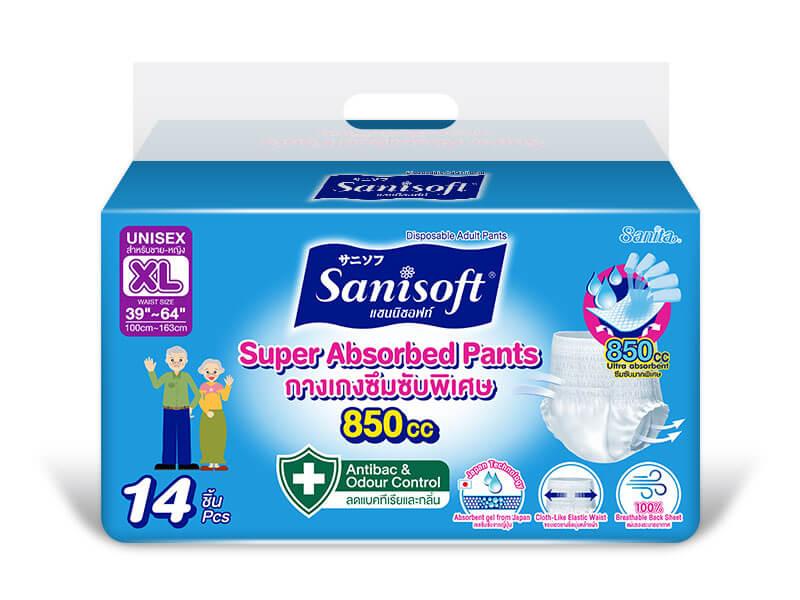 Sanisoft Super Absorbed Pants (XL) - ขนาดบรรจุ 14 ชิ้น