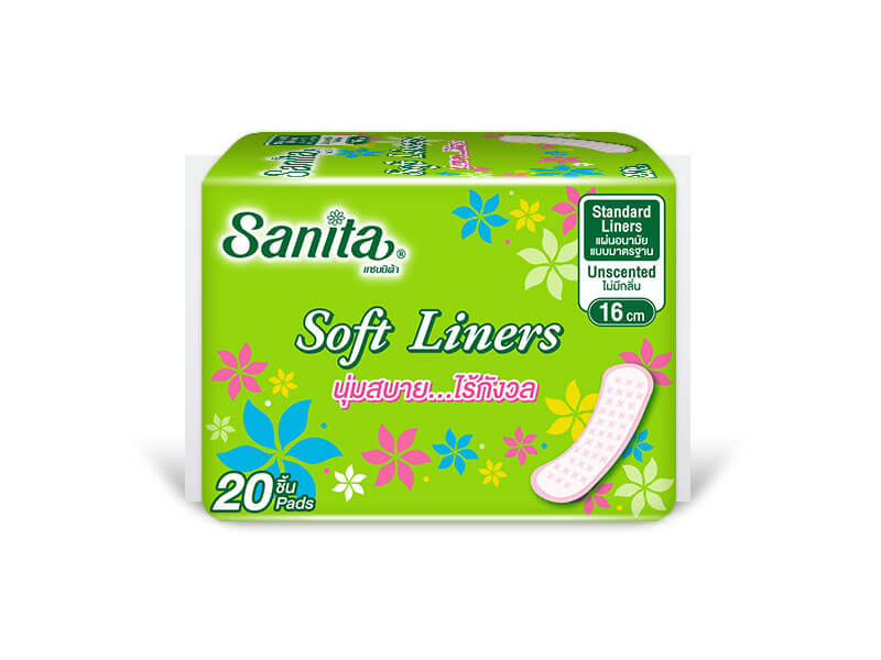 Sanita Soft Liners 16 cm - ขนาดบรรจุ 4 ชิ้น